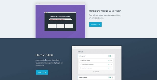 Customer Support Plugins HeroThemes
