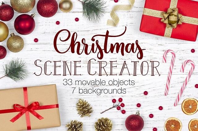 Decorate eCommerce Shop Christmas Scene