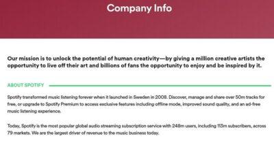Defining Company Values Spotify