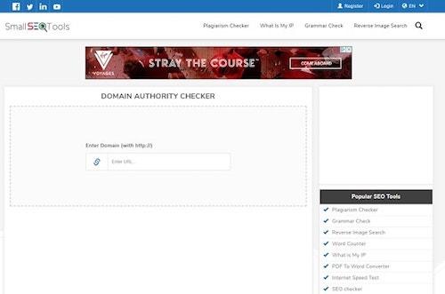 Domain Authority Small SEO Tools