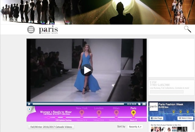 Domain Extensions Paris Fashion Week