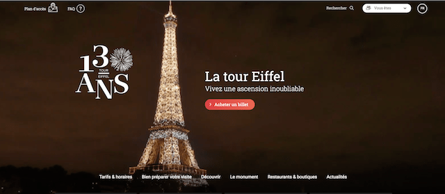 Domain Extensions Tour Eiffel Paris Website