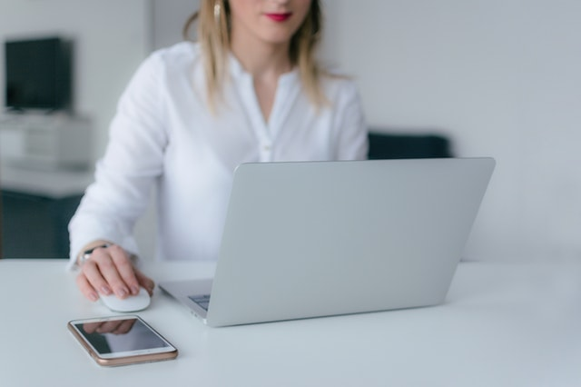 Woman With Laptop Illustrating Domain Flipping