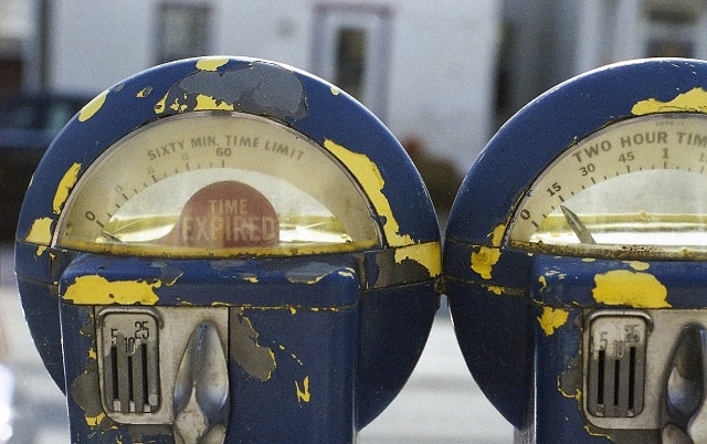 Parking Meter With Expired Message
