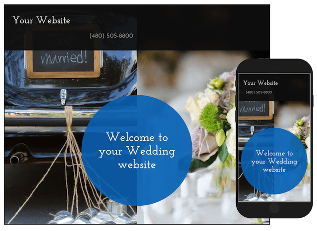 Domain Name Ideas for a Wedding Website GoCentral Template