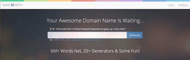 Domain Name Suggestion Tools NameMesh