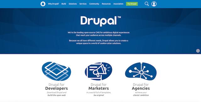 Drupal CMS Homepage