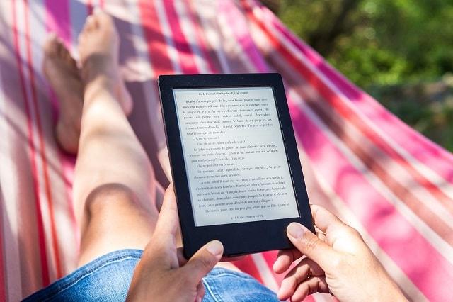 User reading ebook reader