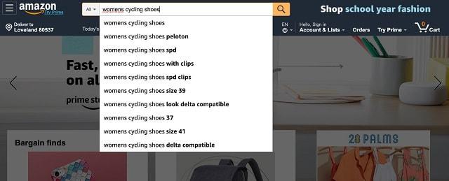 eCommerce SEO Amazon Search Example