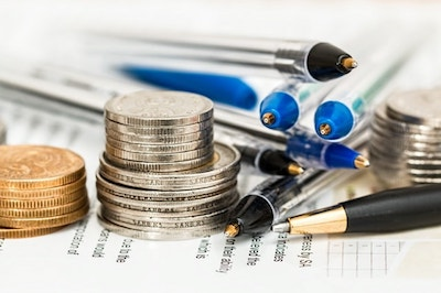 eCommerce Taxes Coins Pens