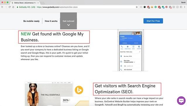 eCommerce Website Design GoCentral