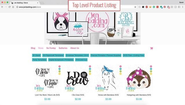 eCommerce Website Design Jen Balding