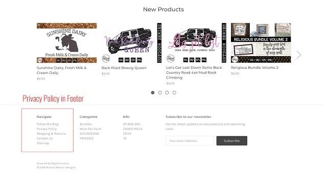 eCommerce Website Design Navigation