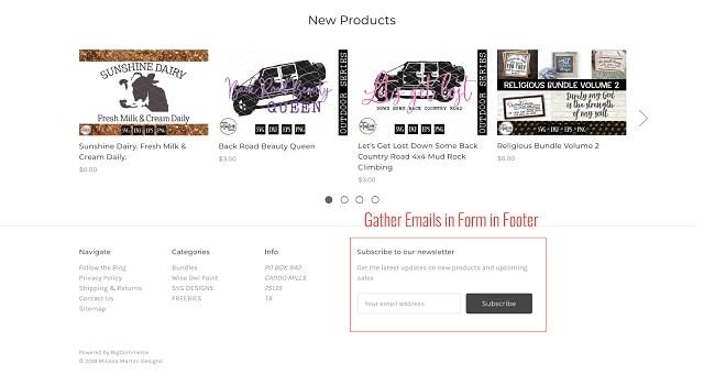 eCommerce Website Design Pages