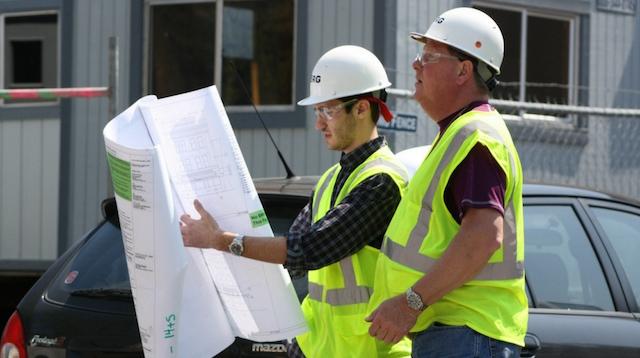 Electrical contractors jobsite