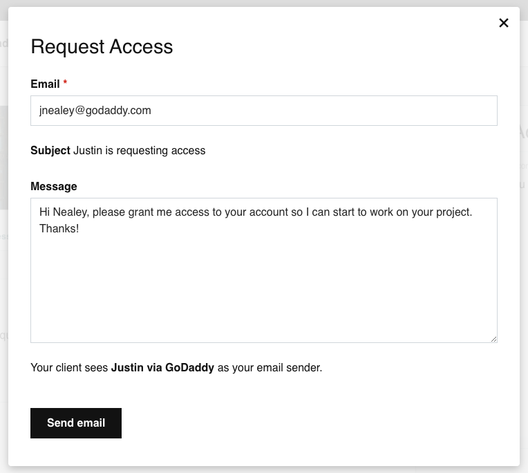 send pro access email