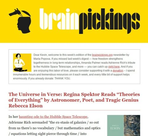 Email Newsletter Design Brain Pickings