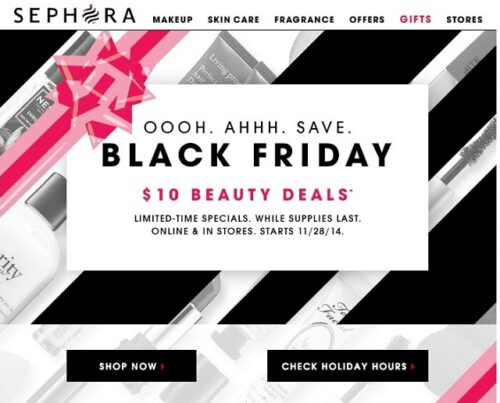 Email Newsletter Design Sephora