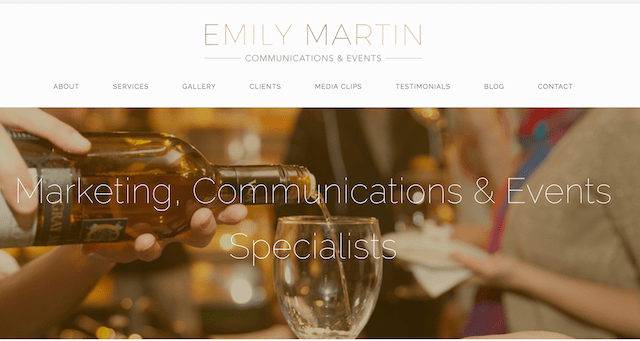 Emily Martin Communications and Events Website