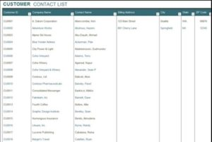 Excel KPIs Contacts