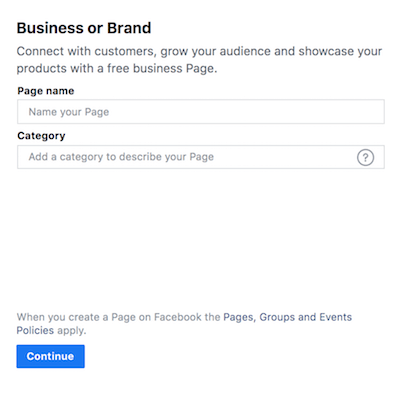 Facebook Page Create Details