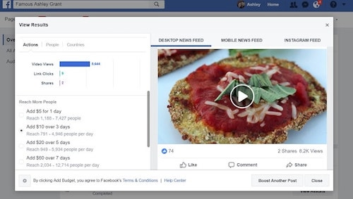 Facebook Page Insights Eggplant Video Actions