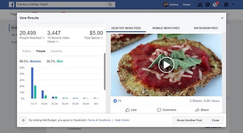 Facebook Page Insights Eggplant Video People
