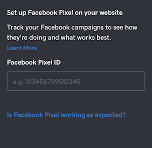 screenshot of where to add your Facebook Pixel is GoCentral Website Builder