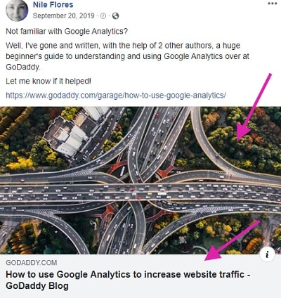 Facebook Post Opengraph Example