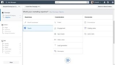 Facebook Reach Ads Marketing Objective