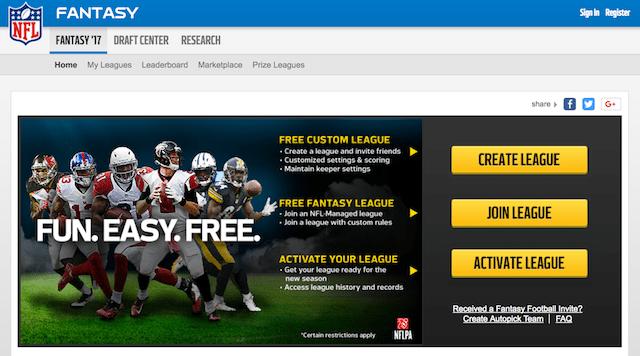 Fantasy Football Marketing NFL