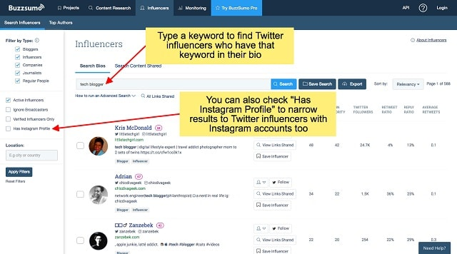 Find Brand Influencers Accounts
