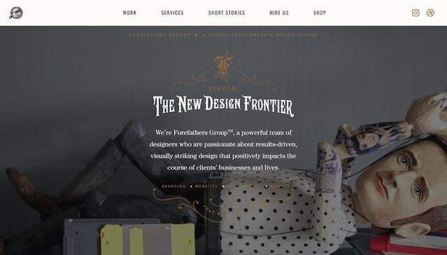 Forefather's Group Vintage Web Design Example