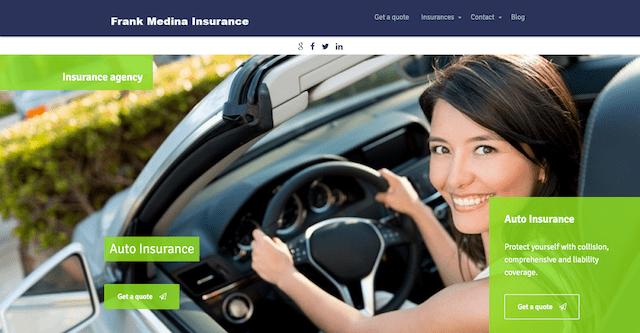 Frank Medina Insurance Website
