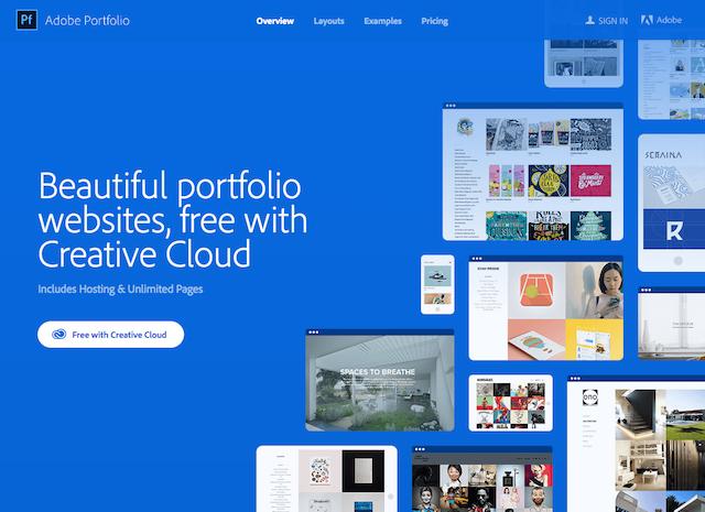 Free Online Portfolio Websites Adobe Portfolio