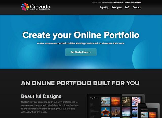 Free Online Portfolio Websites Crevado