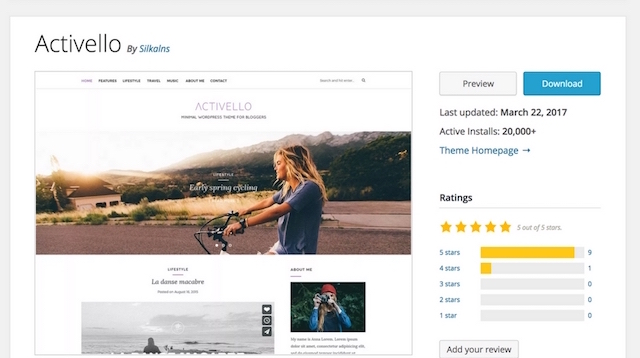 Free Portfolio WordPress Themes Activello