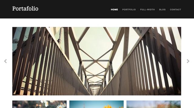 Free Portfolio WordPress Themes Portafolio