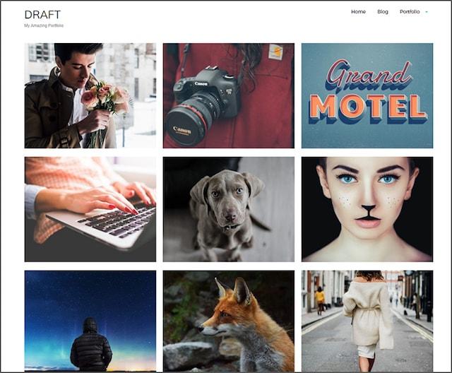 Free Responsive Portfolio WordPress Themes Draft
