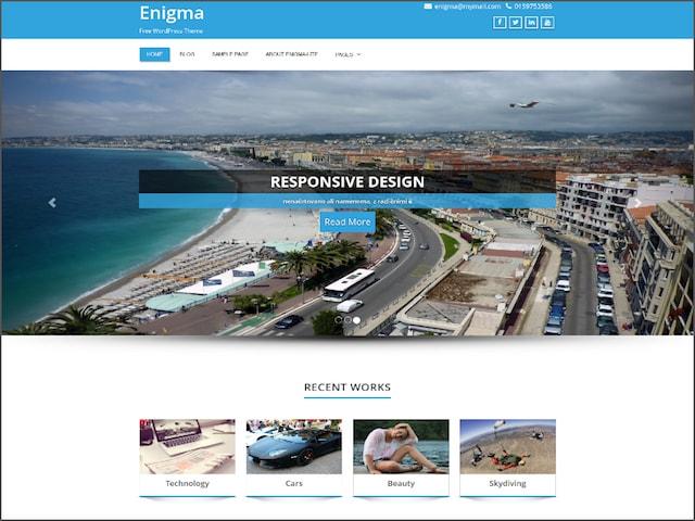 Free Responsive Portfolio WordPress Themes Enigma]