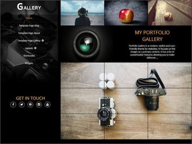 Free Responsive Portfolio WordPress Themes Gallery
