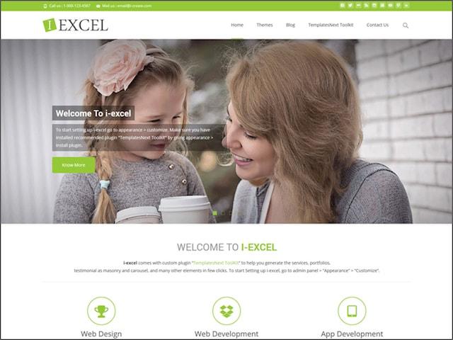 Free Responsive Portfolio WordPress Themes Draft iExcel