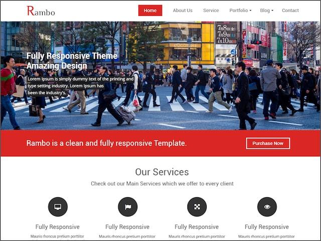 Free Responsive Portfolio WordPress Themes Rambo