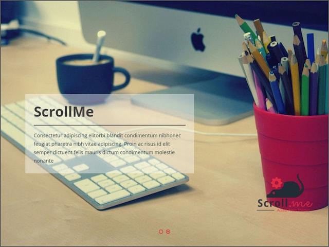 Free Responsive Portfolio WordPress Themes ScrollMe