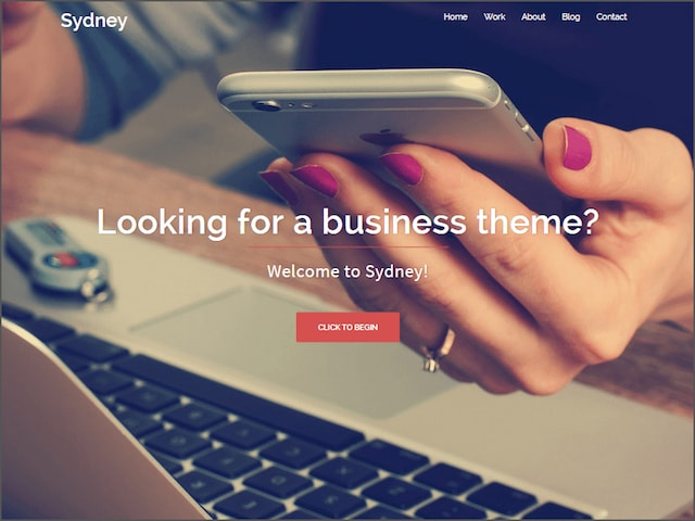 Free Responsive Portfolio WordPress Themes Sydney