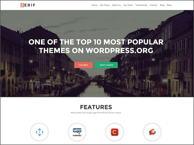 Free Responsive Portfolio WordPress Themes Zerif Lite