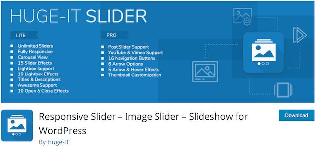 Free WordPress Sliders Responsive Slider