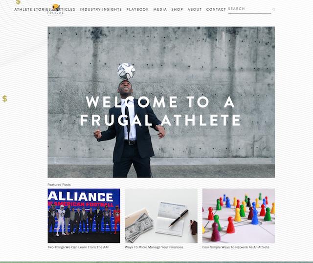 Frugal Athlet Website Homepage