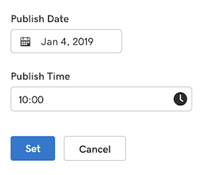 screenshot of UX to schedule a future post