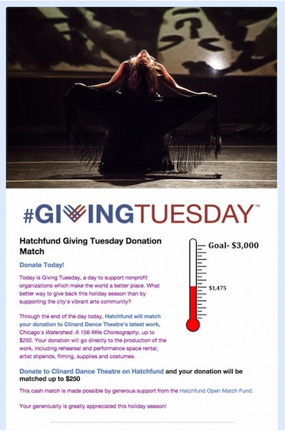 Giving Tuesday Clinard Dance Theatre